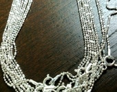 HUGE CLEARANCE SALE 925 Sterling Silver Fancy Tube and Ball Chain Necklace with Closure, sterling silver clasp