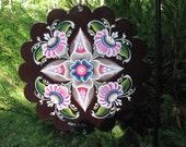 Rosemaled Garden Spinner