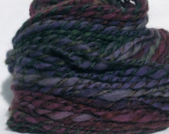 Handspun Yarn. Domestic / Romney Wool. 70 yards Bulky Weight