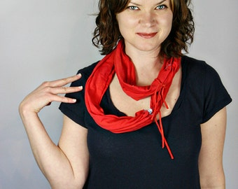 Hand-dyed Infinity Scarf, Organic Cotton, Ready to Ship, On Sale