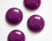Vintage Plum Purple Acrylic Cabochons 18mm cab834E