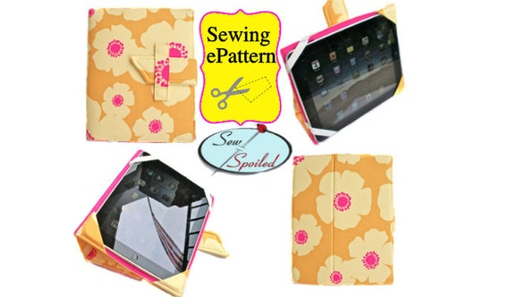 2-PDF Sewing Pattern Sewing Spoiled iPad 2- 4 Folding Case/ Notebook/ Stand and Travel Case