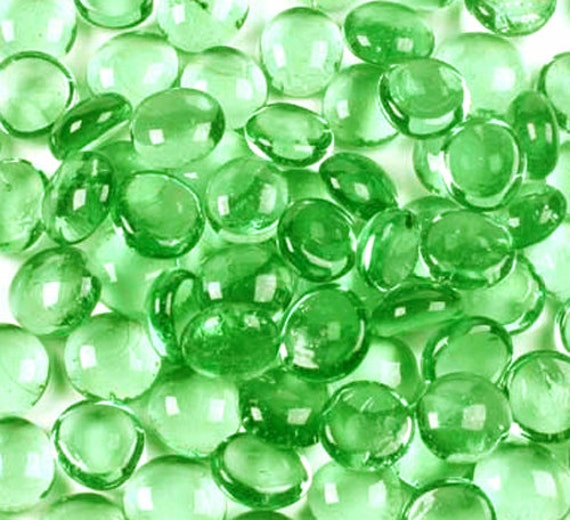 Iridescent Lime Green Raindrop Beaded Curtain: 50 Lime Green Iridescent Glass Gems Floral Vase Fillers