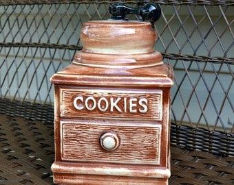 McCoy Coffee Grinder Cookie Jar circa: 1960