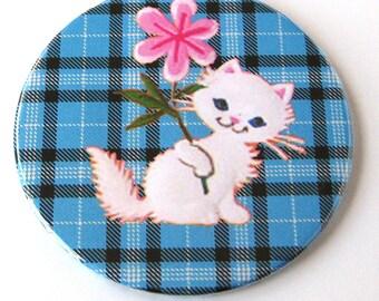 Cat Tartan Plaid Magnet