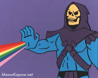 Skeletor // MOTU // Collage Art Print