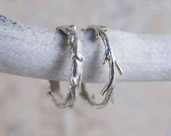 Sterling Silver Twig Ring | Stacking Ring | Nature Inspired Ring