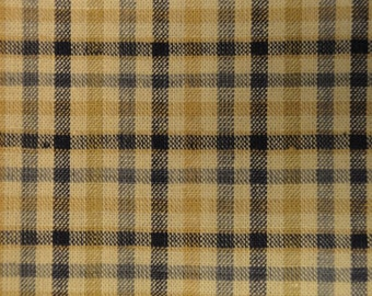 Homespun Material  | Homespun Fabric |  Cotton Material |  Navy Plaid  | Destash Material | 69 x 44