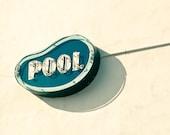 Sign photography, swimming pool, mad men, vintage neon sign, kitsch, retro decor, mid century modern, retro modern, new jersey
