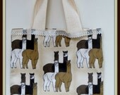 Four Alpacas Group Lined Tote Bag