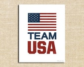 Team USA Printable Art | Celebrate the Olympics with a Team USA Banner | American Flag | Winter Olympics | Sports Fans | Party Decor - PennyJaneDesign