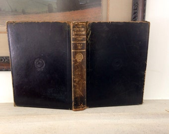1914 leather bound century dictionary - illustrated