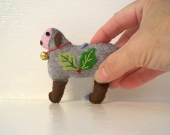Christmas Felt Art Doll Christmas Black Sheep Hanging ornament