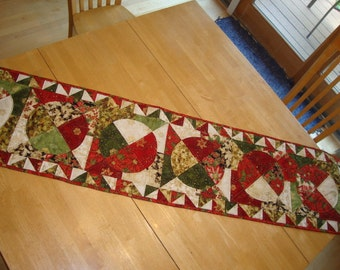 Poinsettia  tablerunner- CLEARANCE