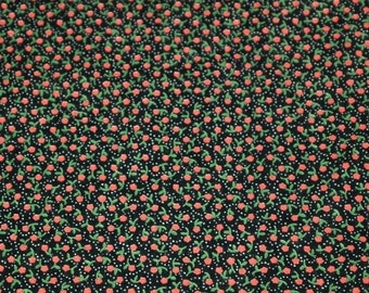 vintage 50s cotton quilting fabric, featuring cute tiny flower print, 1 yard, 3 available priced PER YARD