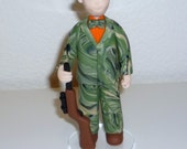 custom profession or hobby figurine - hunter, chef , artist , soccer, fisherman examples