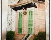 Louisiana Row House on Canvas 8x10