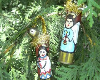 Shotgun Shell Angel Ornaments - Angels On Shotgun Shells - Christmas Ornaments - Hand Painted - Redneck Ornaments - Hunters Ornaments