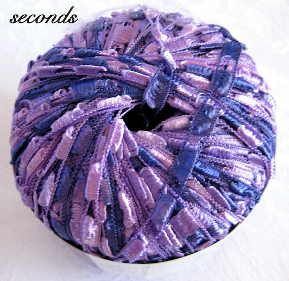 Ribbon Yarn : Ladder Ribbon Yarn, Amethyst, purple blue trellis yarn, Maxi 110 ...