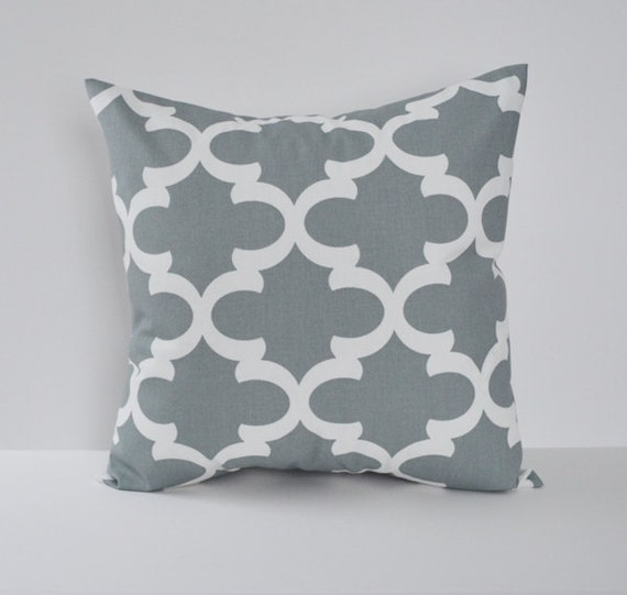 Items similar to Pillow Cover Decorative Pillows Throw Pillows Grey Pillow Moroccan Pillow 16x16 ...