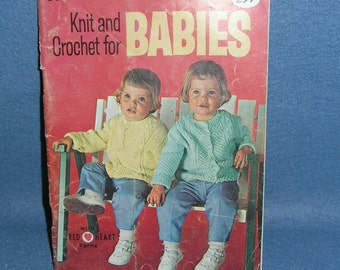 Knit & Crochet for Babies Coats and Clark's Book No. 146 From 1964