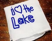 I love the lake dish towel