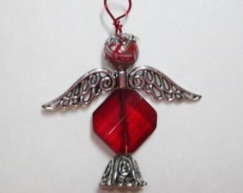 angel necklace,angel jewelry,angel handmade,guardian angel,guardian angel necklace,guardian angel jewelry,red guardian angel,#12