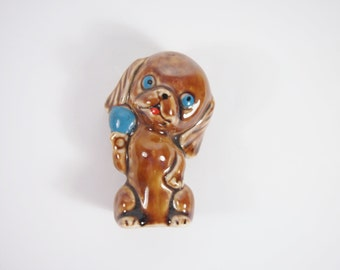 Vintage Japan Dog Porcelain 30s 40s Figurine