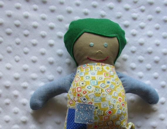 Emerson Small Handmade Fabric Baby Doll