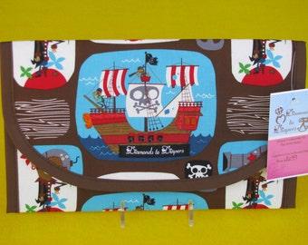 Pirate Treasure Diaper and Wipes Case Holder Clutch