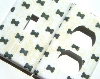 Dog Bones Light Switch Cover and Outlet Cover