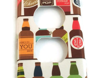 Light Switch Cover  Wall Decor  Outlet Switchplate in Brewski (167O)