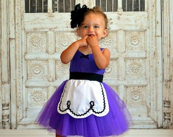 PURPLE TUTU dress,  baby 1st  birthday outfit, birthday dress, baby first birthday baby outfit for girl, Lover Dovers , SIZE 18/24m
