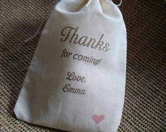 Personalized Custom Party Favor Bags - Set of 10 - 4x6 - Item 4M1553