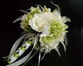 THINK GREEN Feather Wedding Bouquet