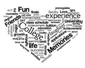 College Heart word cloud