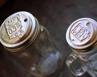 SALE Stainless steel sippy cup top for mason jars for to-go drinks [WIDE MOUTH]