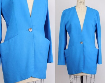 Vintage 1980s Christian Dior Jacket  | Sculptural Blazer | 1980s Tailored Suit Jacket | 4