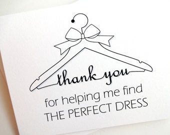 Bridal Gown Salon Thank You Card for Wedding