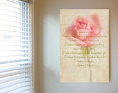 "Still life print ""I Believe"" 8x12 print   rose green ""audrey Hepburn"" cream white green wall home decor affordable art Bettina Woolbright"