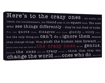 Stock Canvas 20X40 Here's to the Crazy ones Geezees Canvas Art