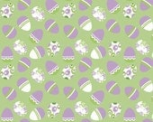 Clearance SALE!!!  RBD, Holiday Easter Eggs Green (C563) - 1 yard