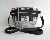 ADELE Small Purse // Day Bag // Zippered Pouch // Detachable Cross Body Strap // Hip Bag