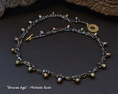 Bronze Age - Original, One of a Kind (OOAK) Bead Woven Necklace by Michelle Bush