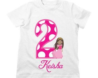 Princess Birthday Shirt or Bodysuit - Personalized Birthday Shirt