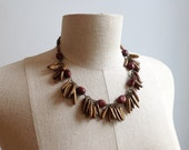 1930s Seed Pod Festoon Necklace.
