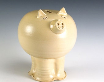 Silky Cream Color Piggy Bank