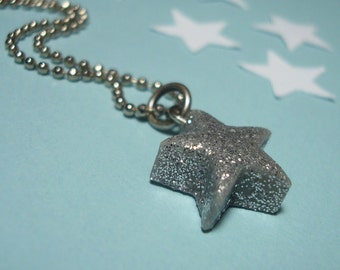 Lucky Star Necklace- Sparkly, Simple, and Hypoallergenic