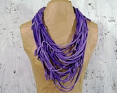 CLEARANCE purple t shirt necklace