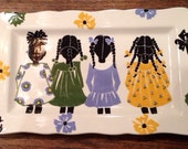 "Rose Hill ""The Little Colored Girls"" Serving Platter 13"" x 8"""